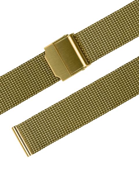 Stalux Milanaise fein 14mm Edelstahl vergoldet